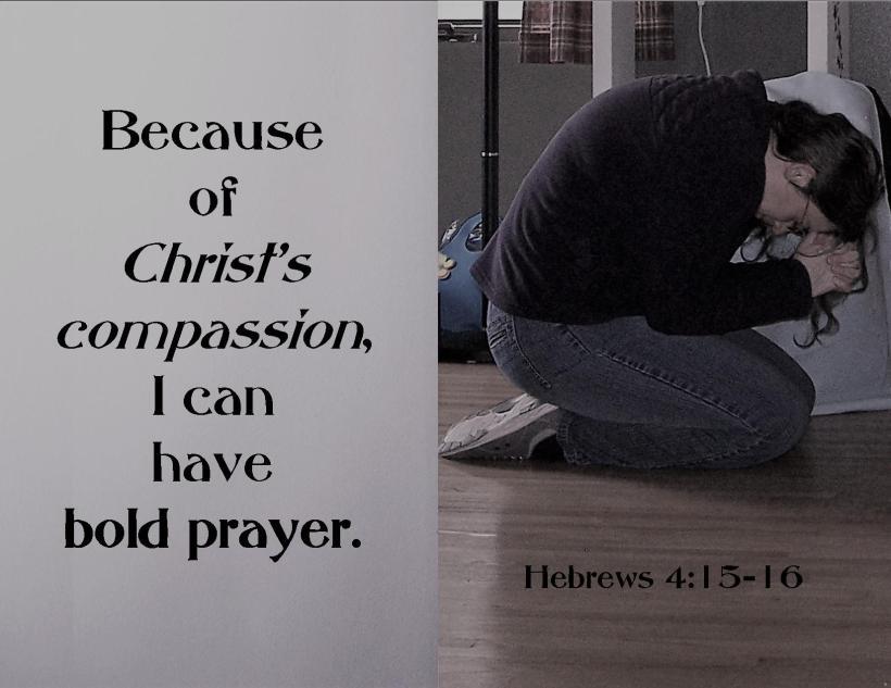Heb 4 15-16 paraphrase kneel