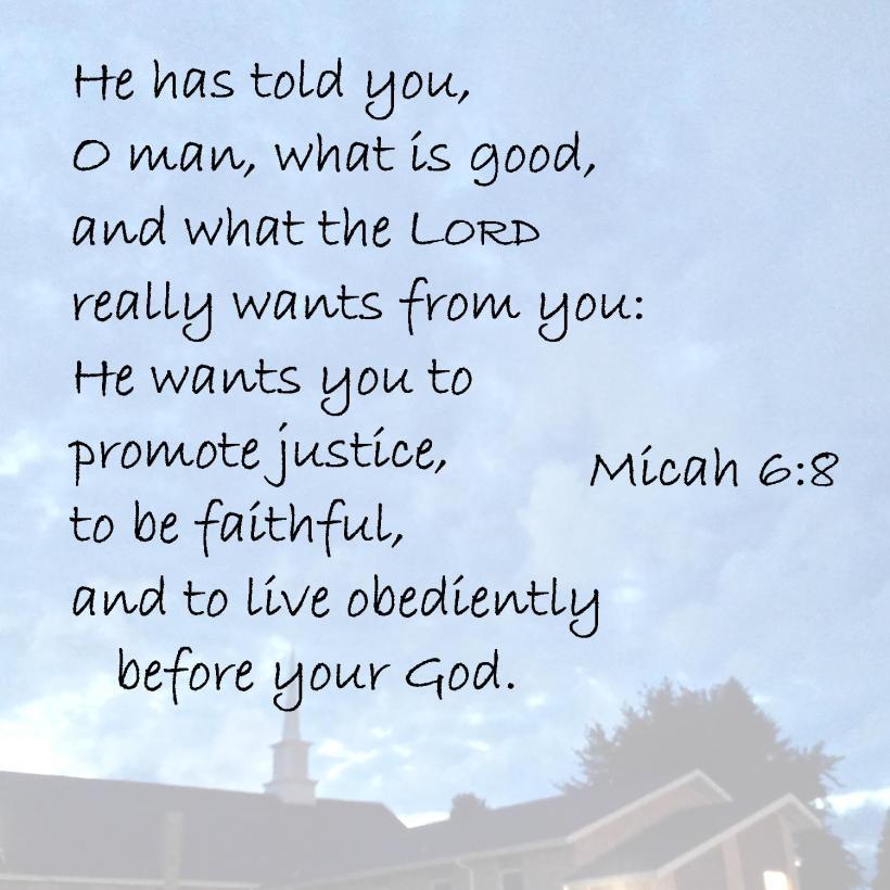 Micah 6 8