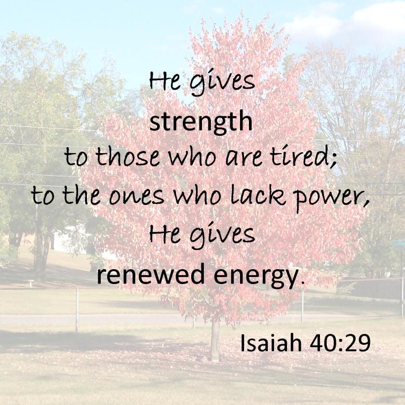 Isaiah 40 29