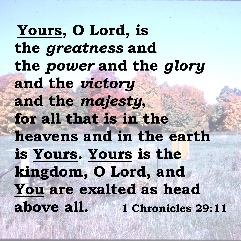 1 Chronicles 29 11